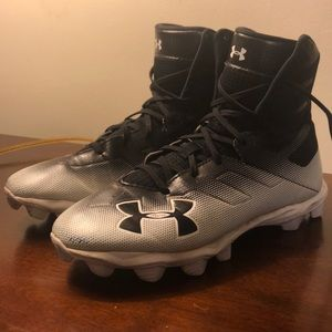 Under Armour hi-top Cleats Highlight Big Kids